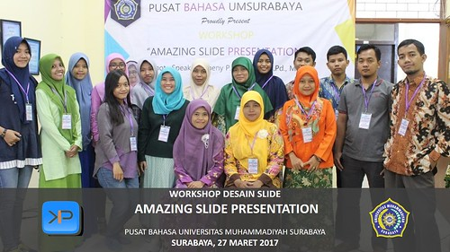 Workshop Amazing Slide Presentation bersama Universitas Muhammadiyah Surabaya