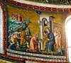 """Magi's adoration"" - mosaic (1291) by Pietro Cavallini (Rome about 1240-Rome about 1330) - Santa Maria in Trastevere Church in Rome"