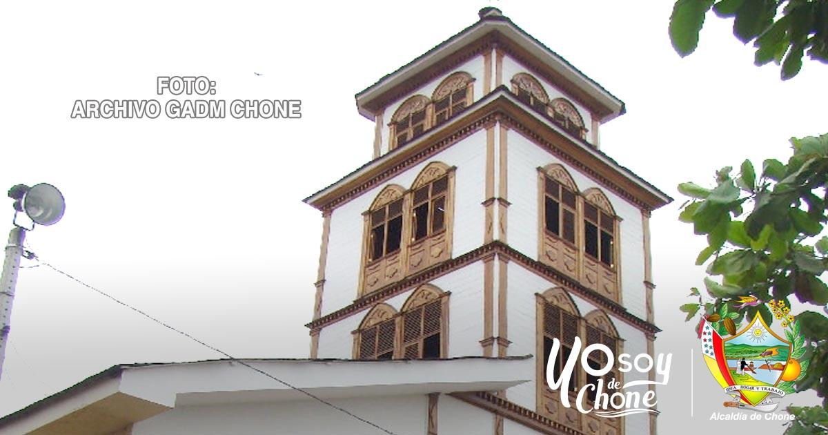 Restauran bienes patrimoniales de la Iglesia de Canuto en Chone