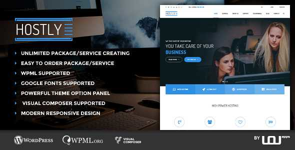 Hostly WordPress Theme free download