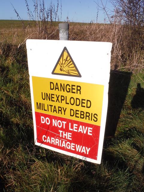 Imber Range, Warning Sign