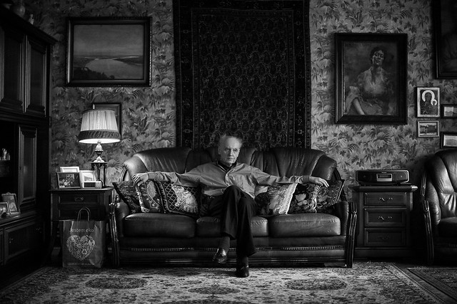 Wojciech Kilar at home