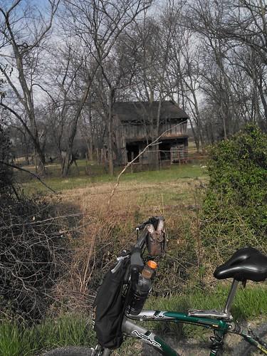 A pretty old rustic barn