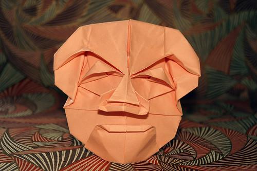 Origami 'Yase-otoko' (Tomoko Fuse)