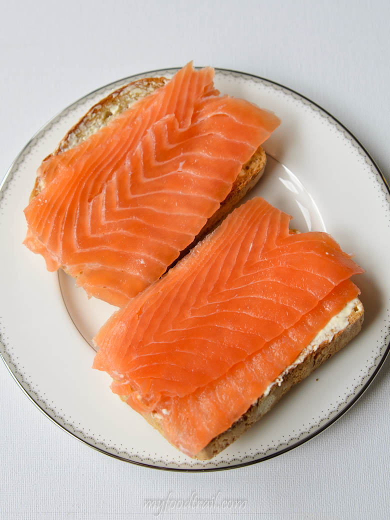 Huon Reserved Selection Cold Smoked Salmon on toast