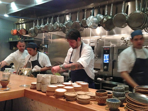 Kitchen at Trois Mec