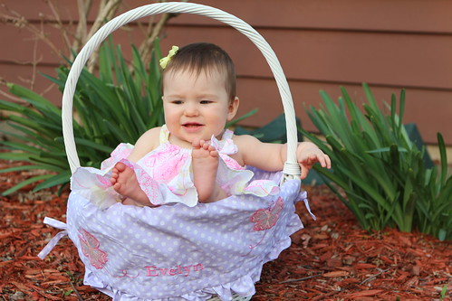 Evelyn in a Basket