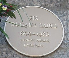 Photo of Dugald Baird yellow plaque