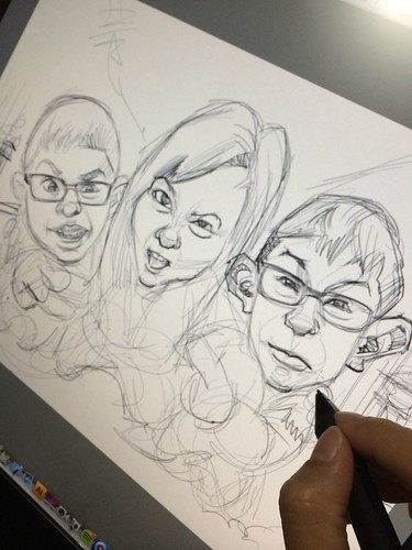 digital family caricatures in Japan