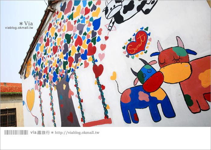【彰化景點推薦】乳牛彩繪村(福寶村)~數百頭彩色小牛+夢幻藍晒圖的彩色村27