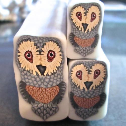 Blue/Gray Owl Cane - reduced
