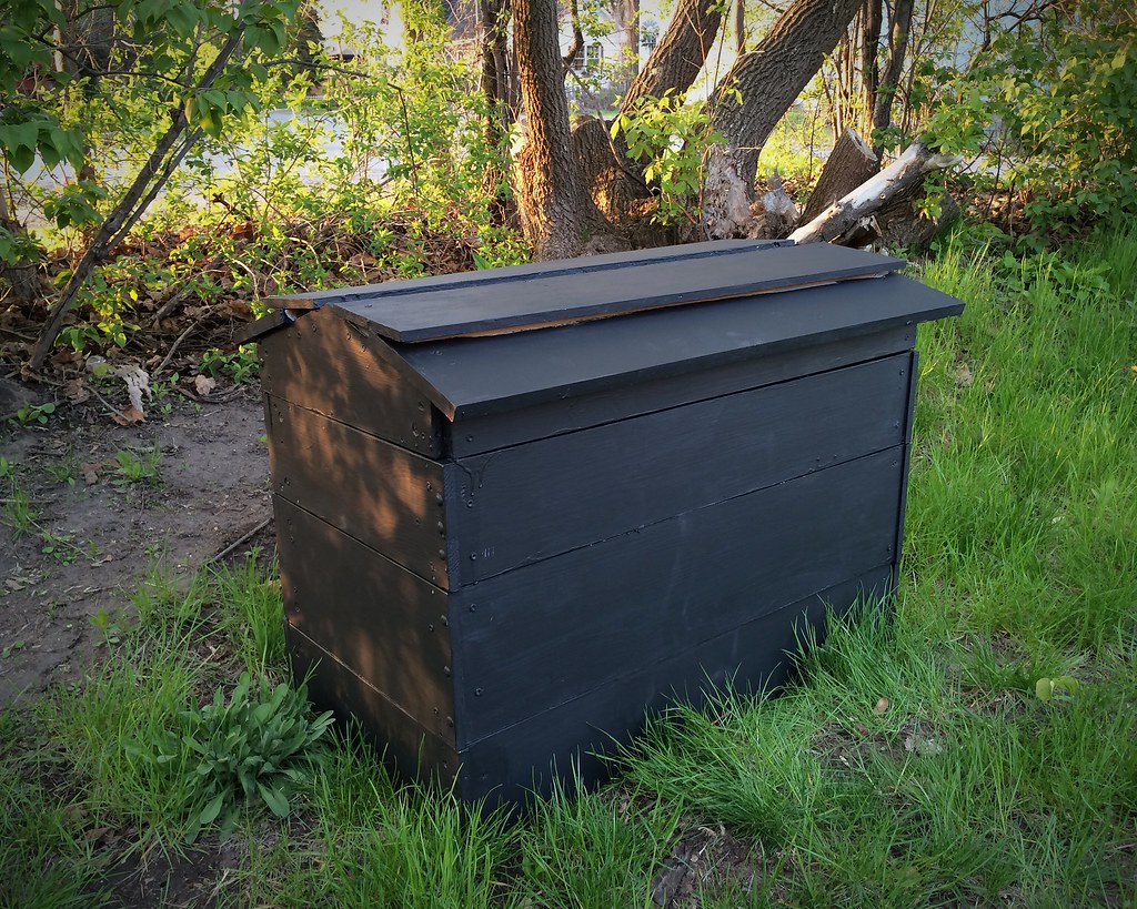 Photo of completed compost bin