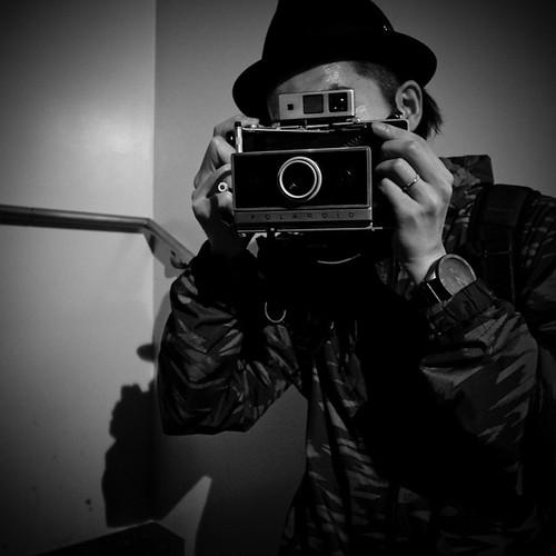 Exchanging Portraits with Takumi Takamoto (山本拓未), Moneytree First Year Anniversay, Shibuya, Tokyo
