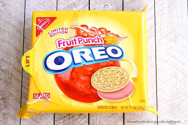 Fruit Punch Oreo Truffles package of fruit punch OREO cookies.