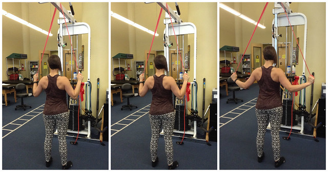 Lat-pull downs trio