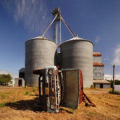 storage tank, building, silo, vehicle,