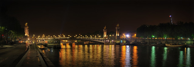 Alexander Bridge Night Time Panorama