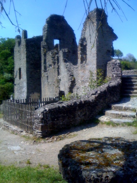 Castle ruins in Manderscheid