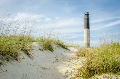 ocean travel summer lighthouse beach grass landscape sand northcarolina atlantic oakisland