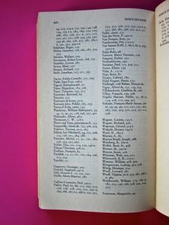 Soglie, di Gérard Genette. Einaudi 1989. Responsabilità grafica non indicata [Munari]. Indice dei nomi: pag. 442 (part.), 1