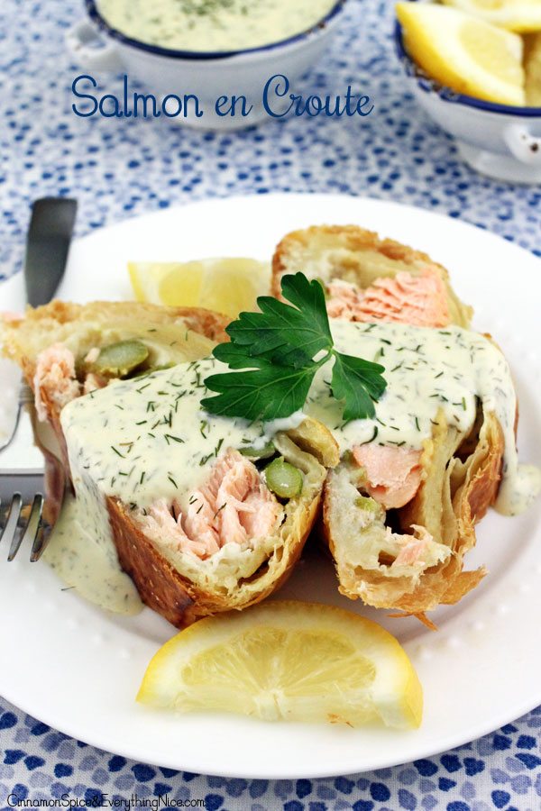 Salmon en Croûte with Lemon Dill Sauce | Cinnamon-Spice & Everything ...