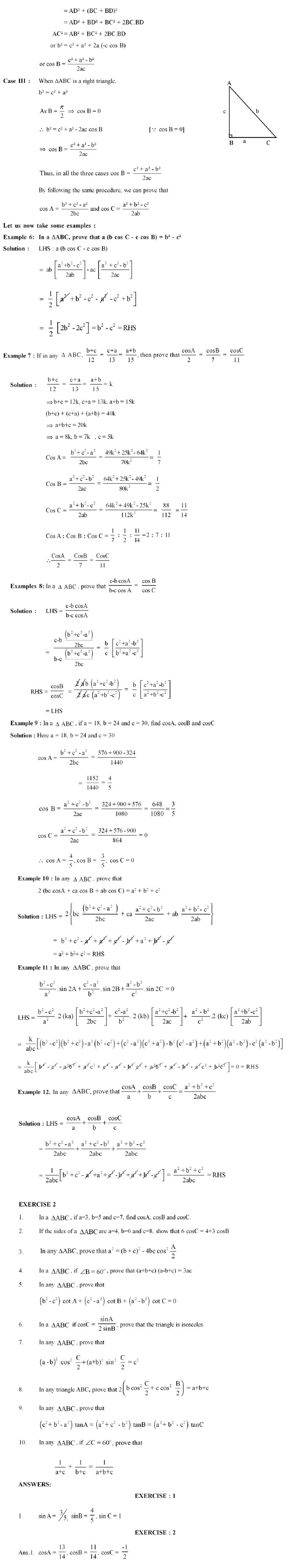 CBSE Class Class XI Supplementary Textual Material in Mathematics