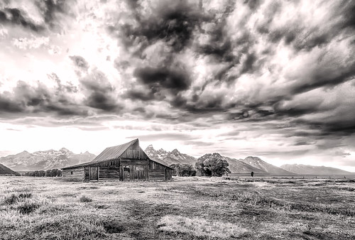 Storm Clouds over the Moulton Barn