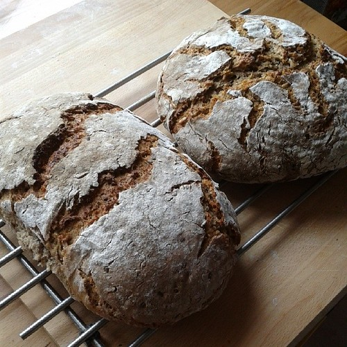 Brot gebacken.