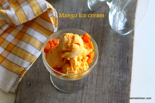 Mango-ice cream