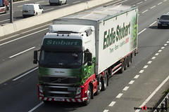 Volvo FH 6x2 Tractor with Biomass 3 Axle Walking Floor Trailer - PX11 BWG - H8506 - Amy Claire - Eddie Stobart - M1 J10 Luton - Steven Gray - IMG_4444
