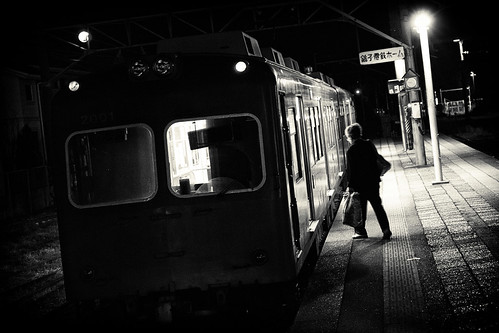 railroad blackandwhite bw blakandwhite monochrome station japan train canon blackwhite railway モノクロ 白黒 千葉 鉄道 ローカル線 localline 銚子電鉄