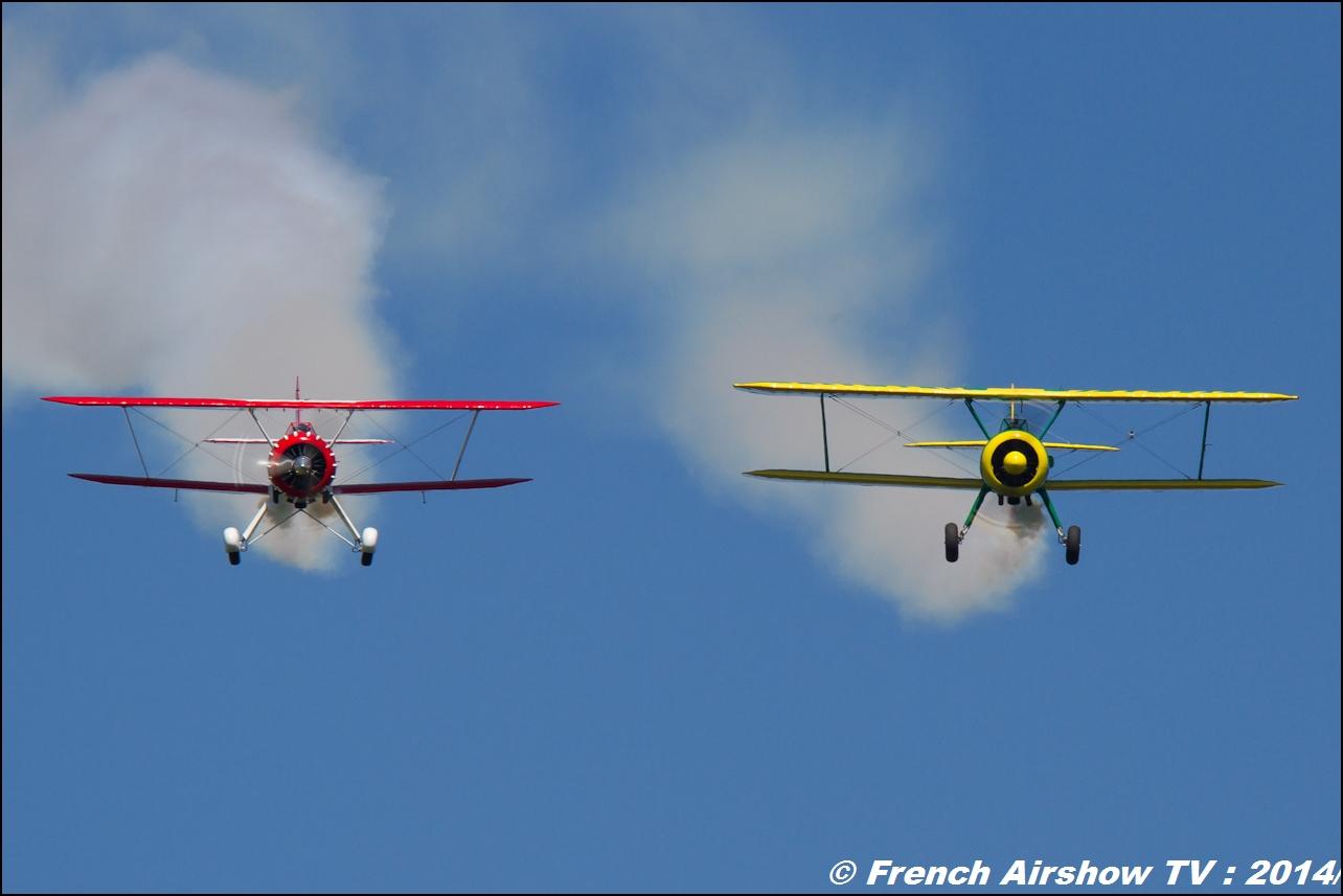 Waco F-AZLC & Le Stearman F-AZGR , Meeting Aerien Til Chatel 2014