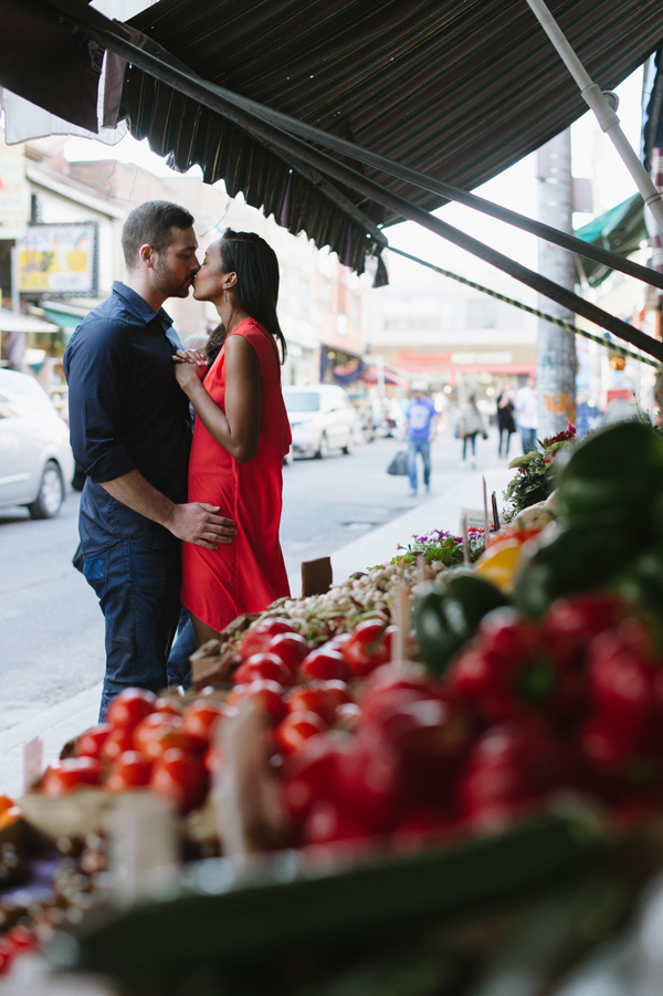 Tara & Tyler Kensington Market engagement