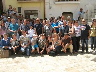 Una foto di gruppo al termine della visita nel centro storico