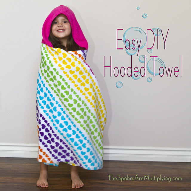 Easy DIY Hooded Towel