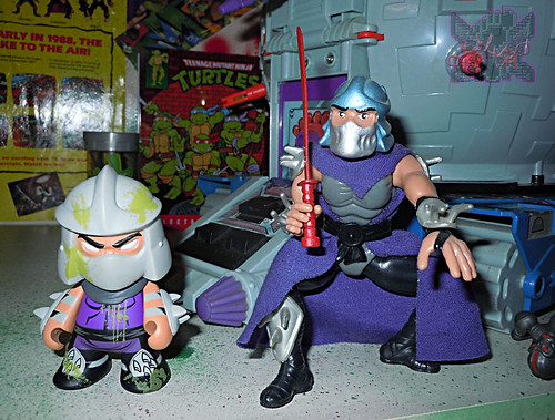"Kidrobot :: ""TEENAGE MUTANT NINJA TURTLES"" - 'OOZE ACTION' GLOW IN THE DARK SHREDDER ix // ..with TOON SHREDDER '93 (( 2014 ))"