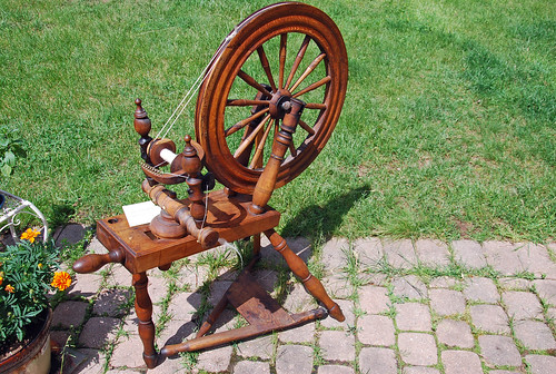 William McDonald antique saxony Canadian spinning wheel Alvin Ramer collection