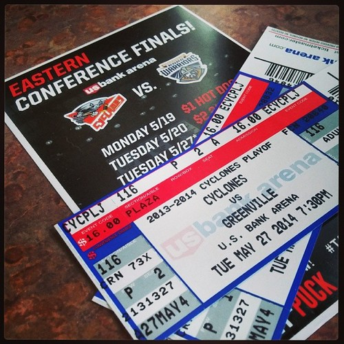 Big game tonight for @CincyCyclones! Its game 6 of ECHL Eastern Conference finals! We're ready! #TakeBackTheCup