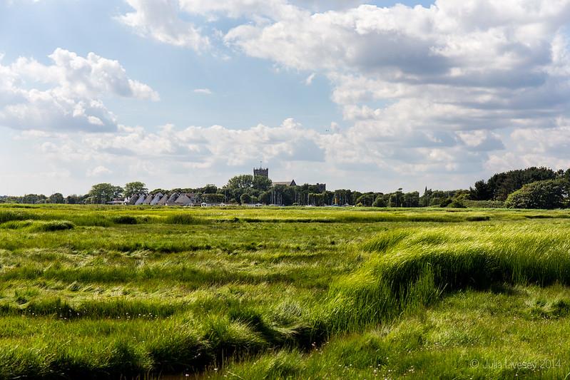 View over Stanpit Marsh