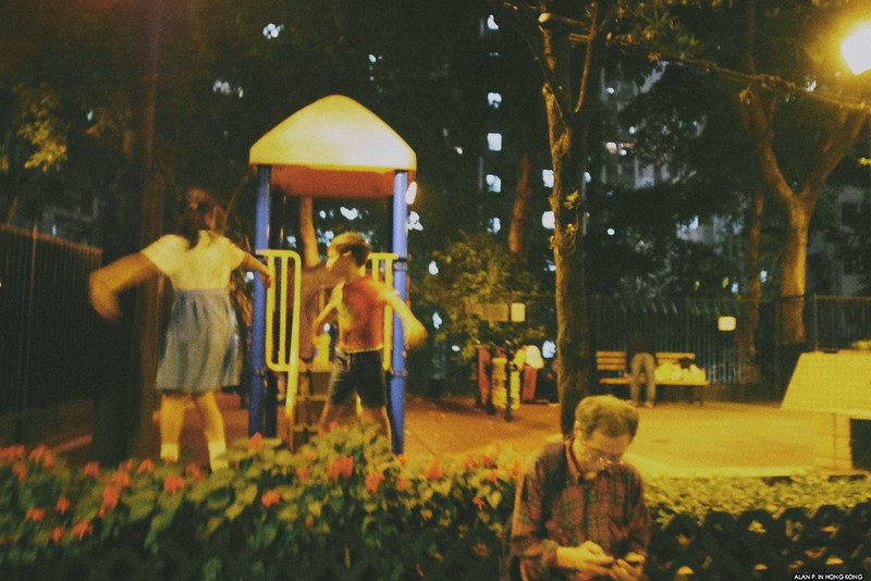 NIght time playground