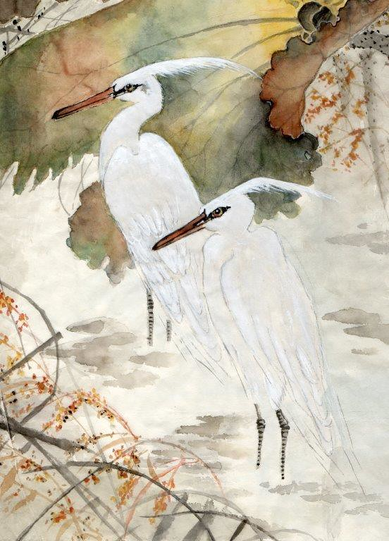 Pat Rawnsley Two Cranes