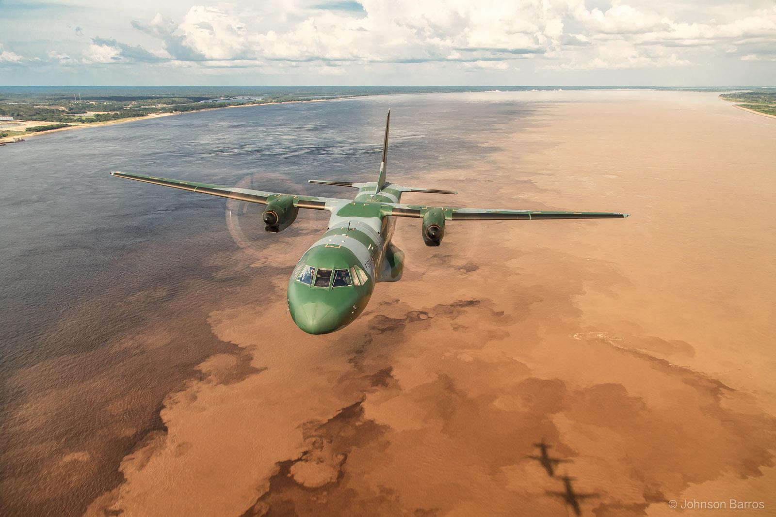 C-295 above the Amazon River