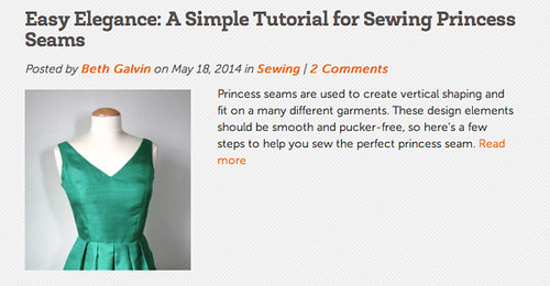 Craftsy post princess seams