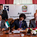 HE Nasser Al Neyadi and Dr. John Grubbström sign the Memorandum of Agreement