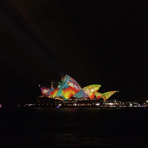 Another #vividsydney photo - but it's my photo and ooh pretty lights.  #vivid #seeaustralia #nofilter