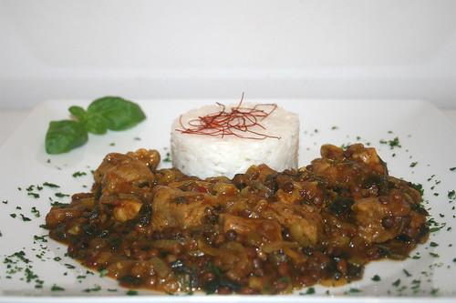 43 - Schweinefleisch-Linsen-Curry - Seitenansicht / Pork lentil curry - Side view