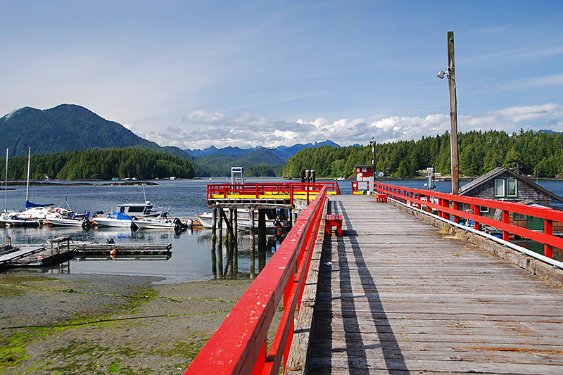 Crab Dock in Tofino, West Coast Vancouver Island, British Columbia