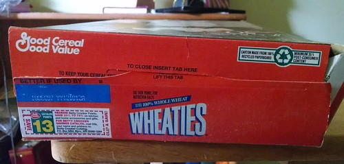 Jackie Robinson 50th Anniversary Wheaties Box