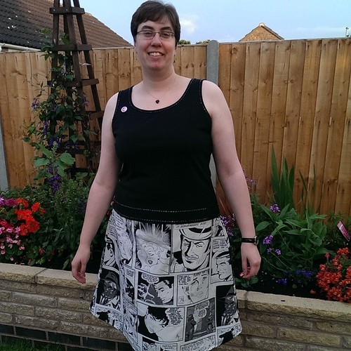 Selina's new skirt - made with her own fair hand!
