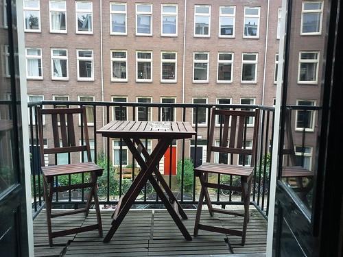 La casa ad Amsterdam: il balcone